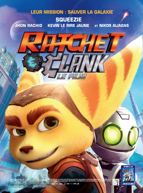 Ratchet and Clank - French Movie Poster