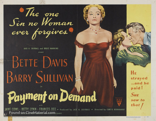 Payment on Demand - Movie Poster
