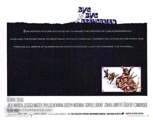 Bye Bye Braverman - Movie Poster