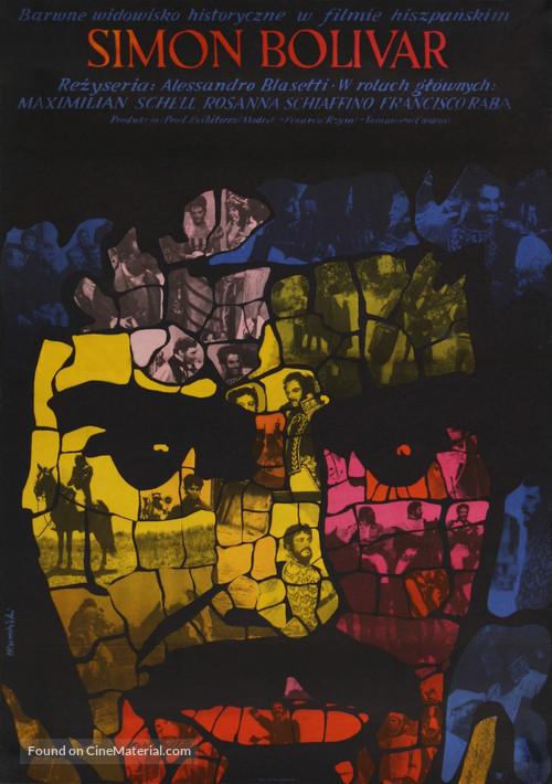 Simón Bolívar - Polish Movie Poster