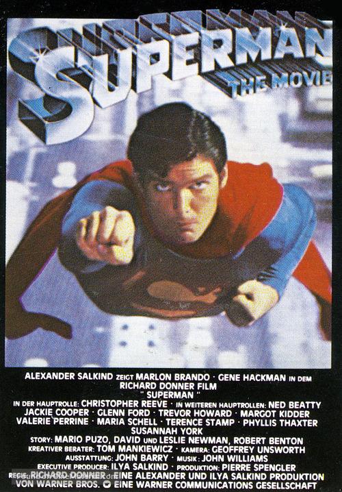 superman german movie poster