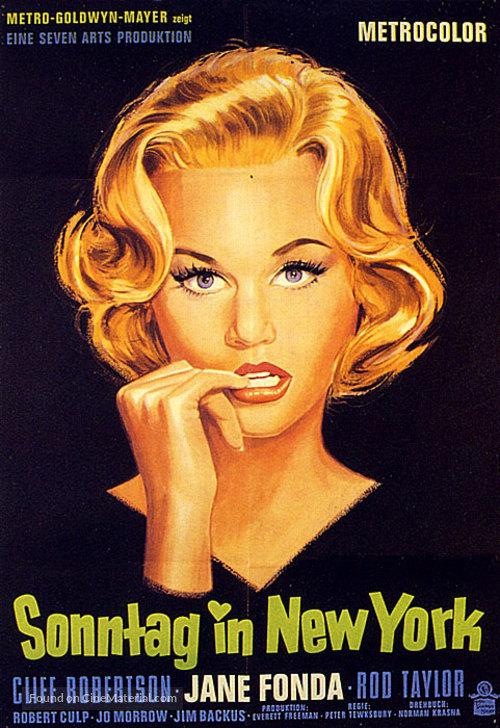 Sunday in New York - German Movie Poster