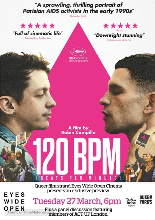 120 battements par minute - British Movie Poster