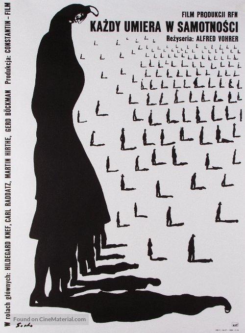 Jeder stirbt für sich allein - Polish Movie Poster