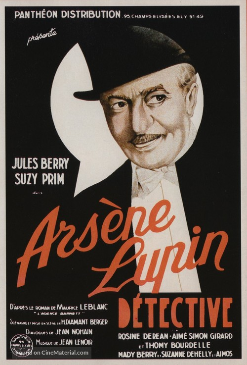 Arséne Lupin dètective - French Movie Poster