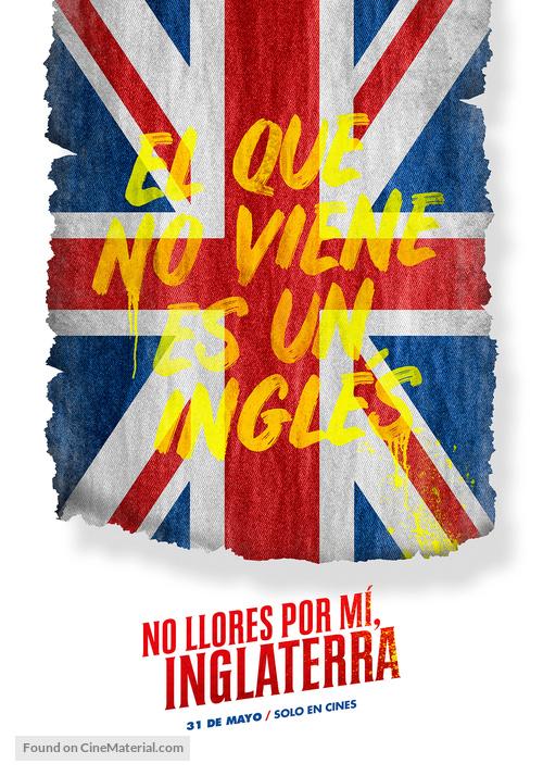 No Llores por mí, Inglaterra - Argentinian Teaser movie poster
