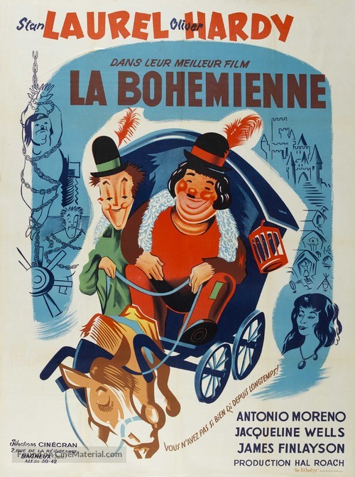 The Bohemian Girl - French Movie Poster