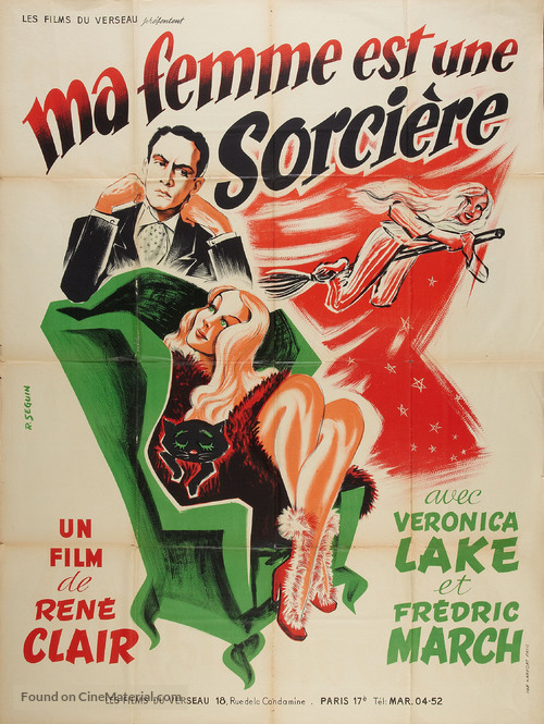 I Married a Witch - French Movie Poster