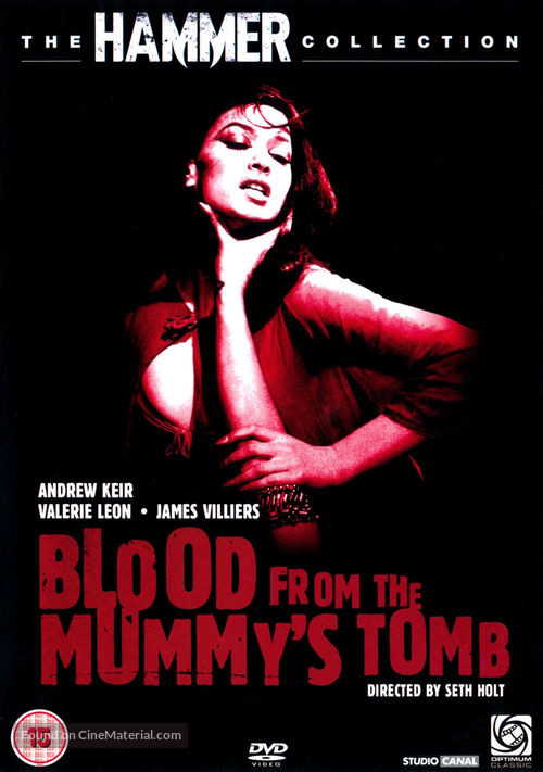 Blood from the Mummy's Tomb - British DVD movie cover