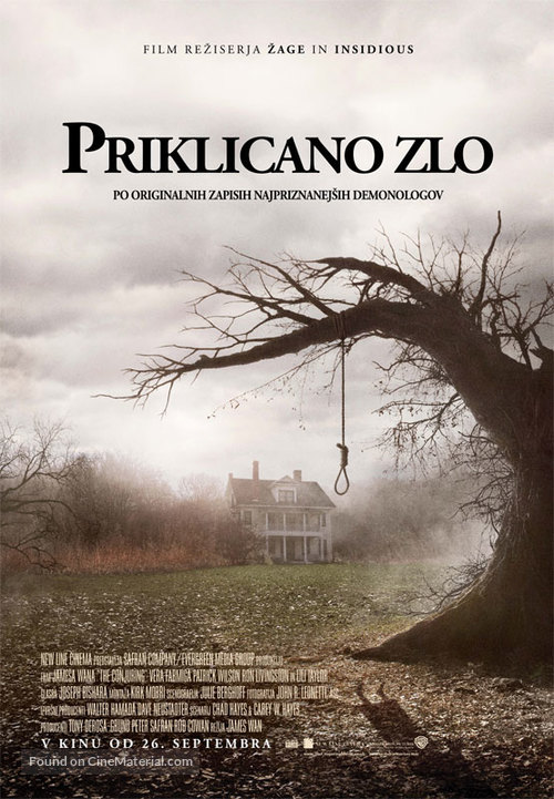 The Conjuring - Slovenian Movie Poster