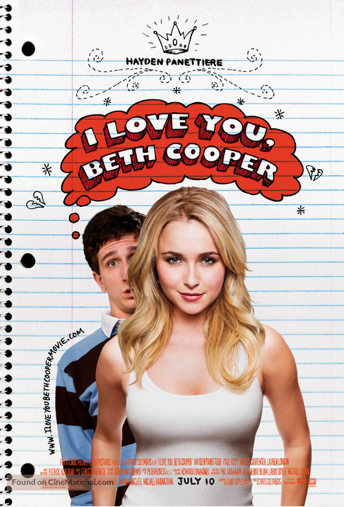 I Love You, Beth Cooper - Movie Poster