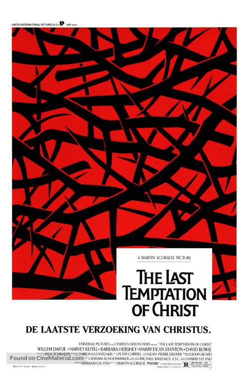 The Last Temptation of Christ - Belgian Movie Poster