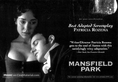 Mansfield Park - For your consideration movie poster
