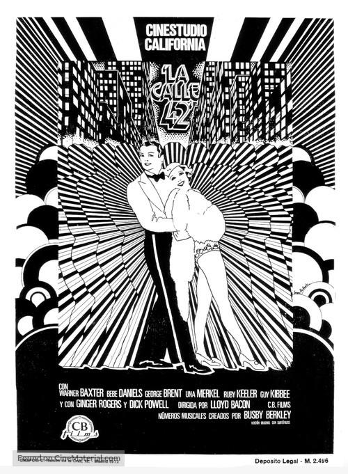 42nd Street - Spanish Movie Poster