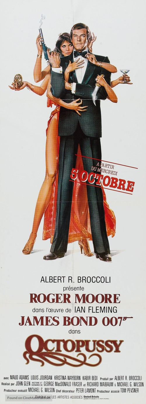 Octopussy - French Movie Poster