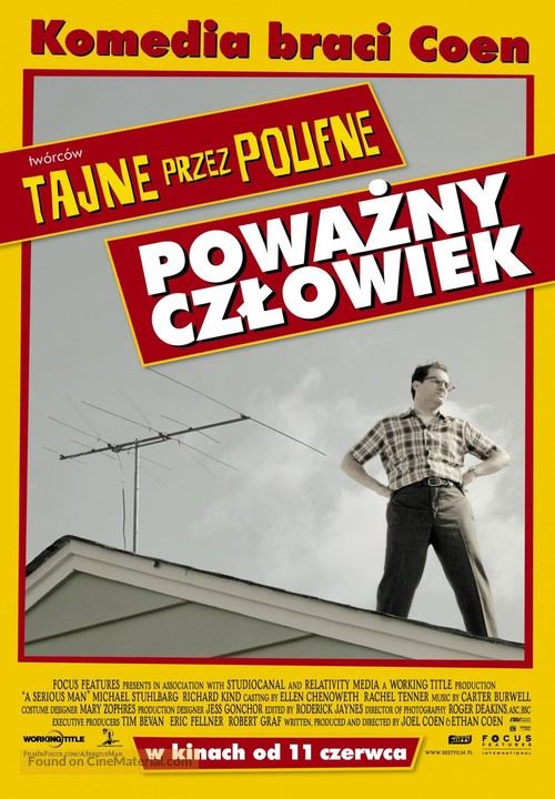 A Serious Man - Polish Movie Poster