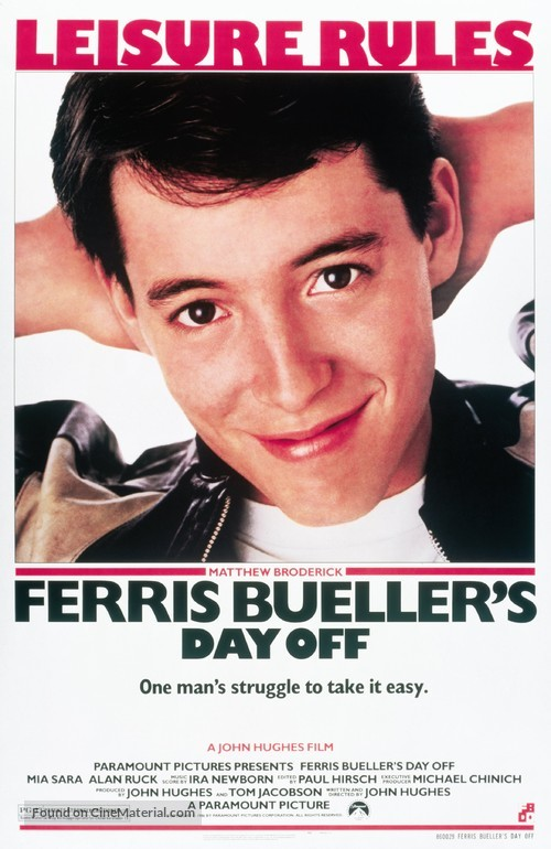 Ferris Bueller's Day Off - Movie Poster