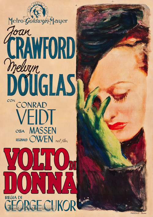 A Woman's Face - Italian Movie Poster