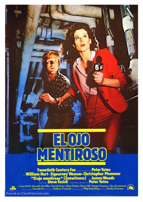 Eyewitness - Spanish Movie Poster