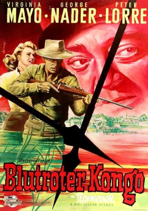 Congo Crossing - German Movie Poster