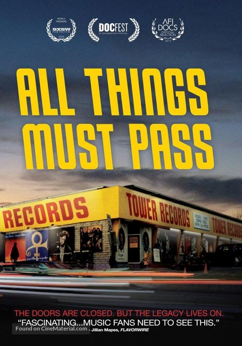 All Things Must Pass - DVD movie cover