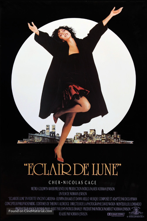 Moonstruck - French Movie Poster
