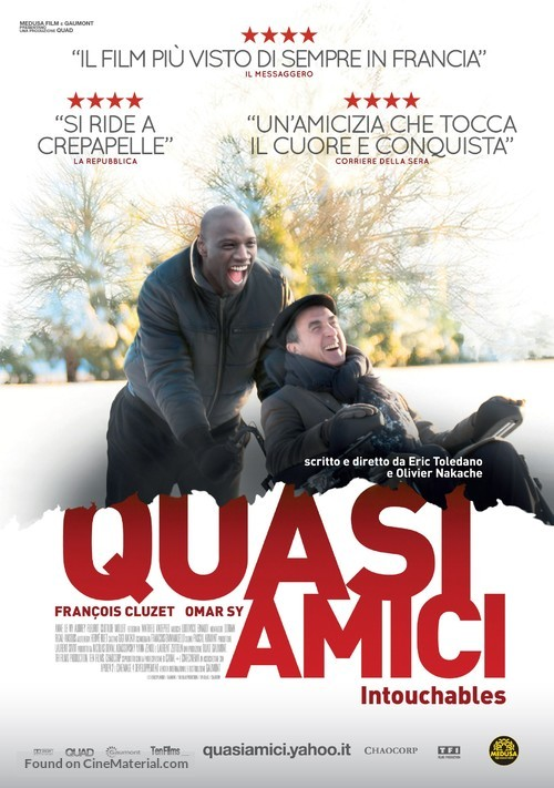 Intouchables - Italian Movie Poster
