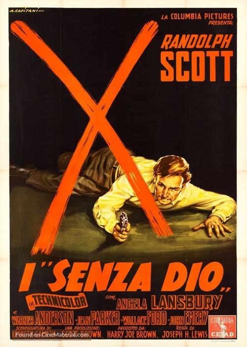 A Lawless Street - Italian Movie Poster