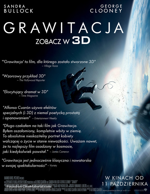 Gravity - Polish Movie Poster