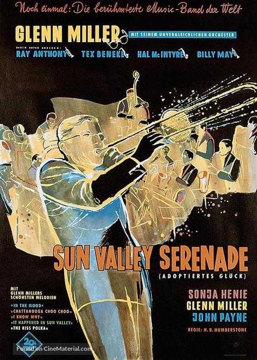Sun Valley Serenade - German Movie Poster