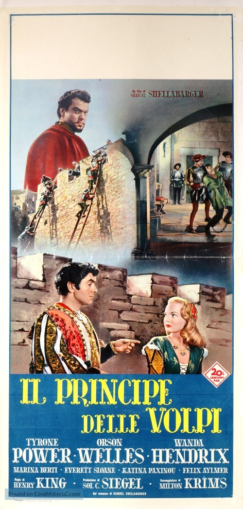 Prince of Foxes - Italian Movie Poster