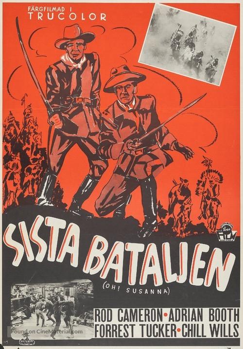 Oh! Susanna - Swedish Movie Poster