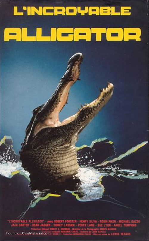 Alligator - French VHS movie cover