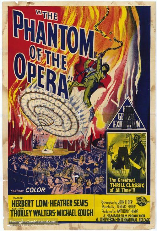 The Phantom of the Opera - Australian Movie Poster