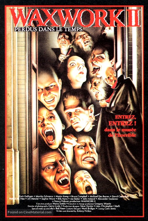 Waxwork II: Lost in Time - French VHS movie cover