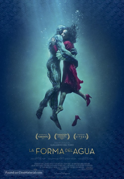 The Shape of Water Spanish movie poster