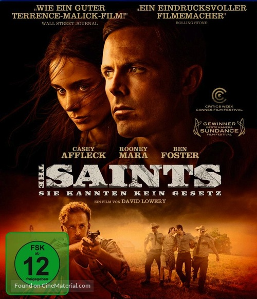 Ain't Them Bodies Saints - German Blu-Ray movie cover