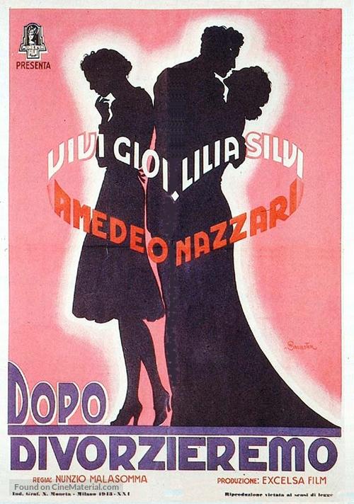 Dopo divorzieremo - Italian Movie Poster