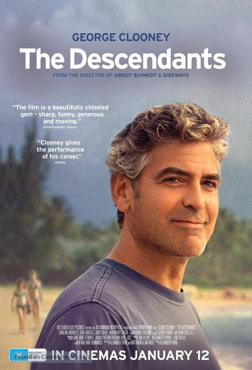 The Descendants - Australian Movie Poster