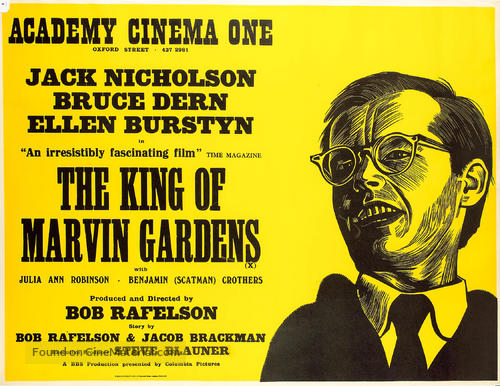 The King of Marvin Gardens - British Movie Poster