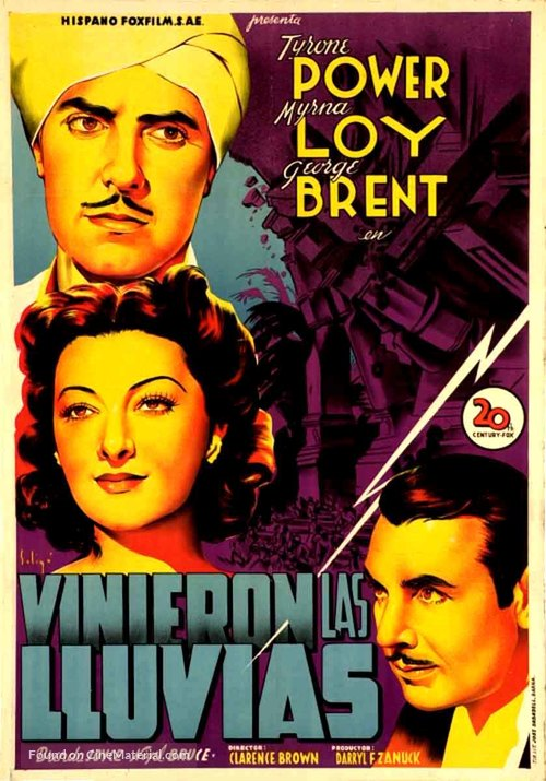 The Rains Came - Spanish Movie Poster