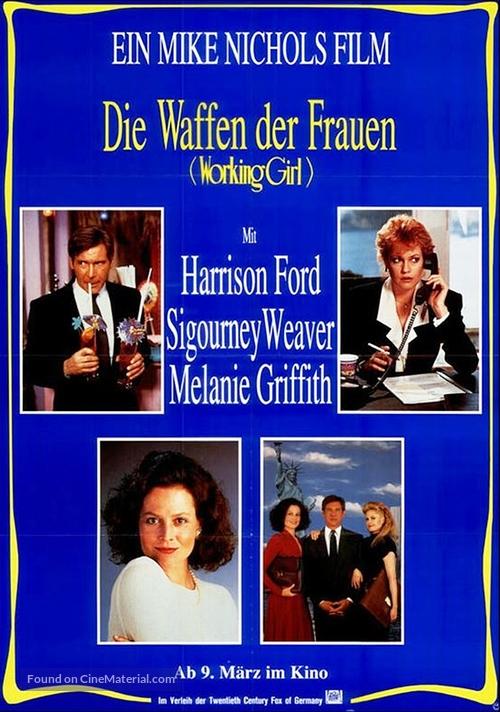 Working Girl - German Movie Poster