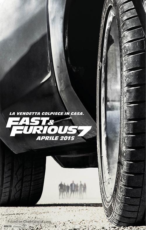 Furious 7 - Italian Movie Poster