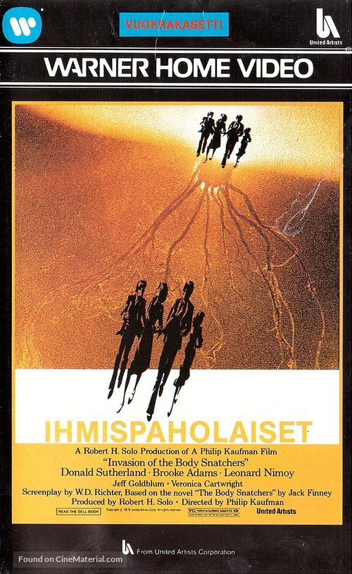 Invasion of the Body Snatchers - Finnish VHS movie cover