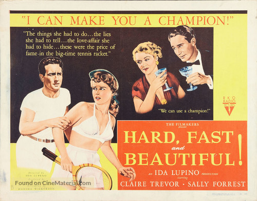 Hard, Fast and Beautiful (1951) movie poster