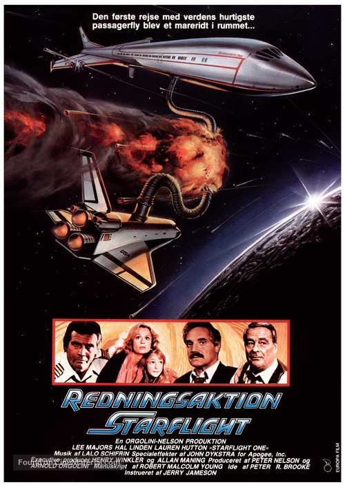 Starflight: The Plane That Couldn't Land - Danish Movie Poster
