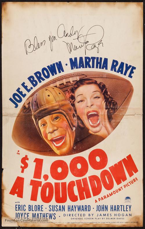$1000 a Touchdown - Movie Poster