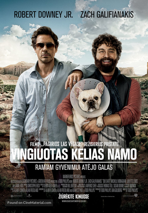 Due Date - Lithuanian Movie Poster