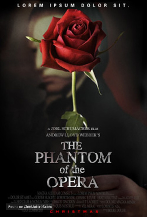 The Phantom Of The Opera - Concept movie poster