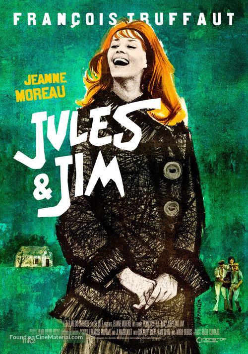 Jules Et Jim - Swedish Re-release movie poster